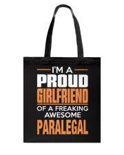 PROUD GIRLFRIEND - PARALEGAL Tote Bag thumbnail