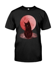 Cat Moon T shirt Classic T-Shirt front