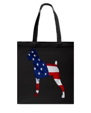 Patriotic Boxer Tank Top Tote Bag thumbnail