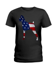 Patriotic Boxer Tank Top Ladies T-Shirt thumbnail
