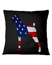 Patriotic Boxer Tank Top Square Pillowcase thumbnail