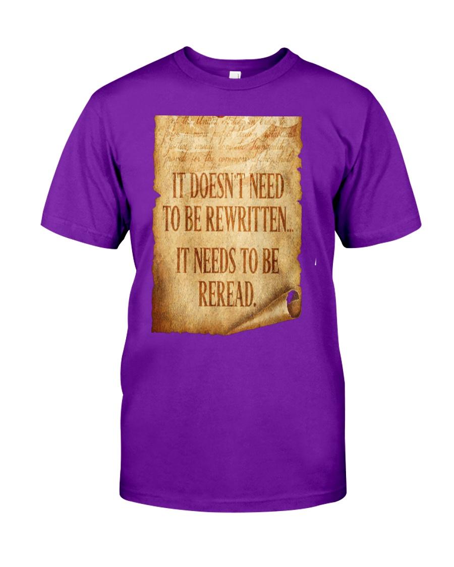 PATRIOTIC - Reread v2 M 0018 Classic T-Shirt