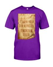 PATRIOTIC - Reread v2 M 0018 Classic T-Shirt front