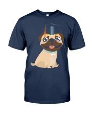 Pug Graduation Cap 1 Classic T-Shirt front