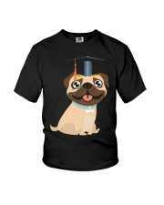 Pug Graduation Cap 1 Youth T-Shirt thumbnail