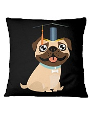 Pug Graduation Cap 1 Square Pillowcase thumbnail