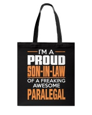 PROUD SON-IN-LAW - PARALEGAL Tote Bag thumbnail