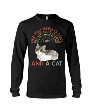 Cat Shirt All you need is love and a cat  Long Sleeve Tee thumbnail