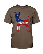 Patriotic Chihuahua Classic T-Shirt front