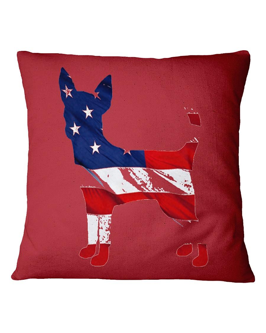 Patriotic Chihuahua Square Pillowcase