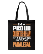 PROUD DAUGHTER-IN-LAW - PARALEGAL Tote Bag tile