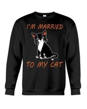 I Am Married To My Cat Cat Crewneck Sweatshirt thumbnail