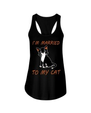 I Am Married To My Cat Cat Ladies Flowy Tank thumbnail