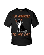 I Am Married To My Cat Cat Youth T-Shirt thumbnail
