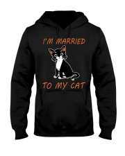 I Am Married To My Cat Cat Hooded Sweatshirt thumbnail
