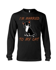 I Am Married To My Cat Cat Long Sleeve Tee thumbnail