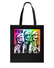 3 Astronaut Space Cats Tote Bag thumbnail