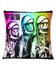 3 Astronaut Space Cats Square Pillowcase thumbnail