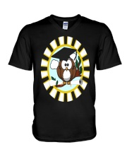 GRADUATION OWL V-Neck T-Shirt thumbnail