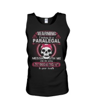 Warning i belong to a PARALEGAL Unisex Tank thumbnail