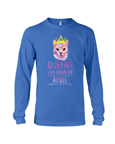 April Queens Cat Are Born In T Shirt Hoodie