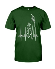 DOG WALKING - MY HEART BEAT Classic T-Shirt front