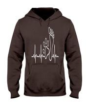 DOG WALKING - MY HEART BEAT Hooded Sweatshirt front
