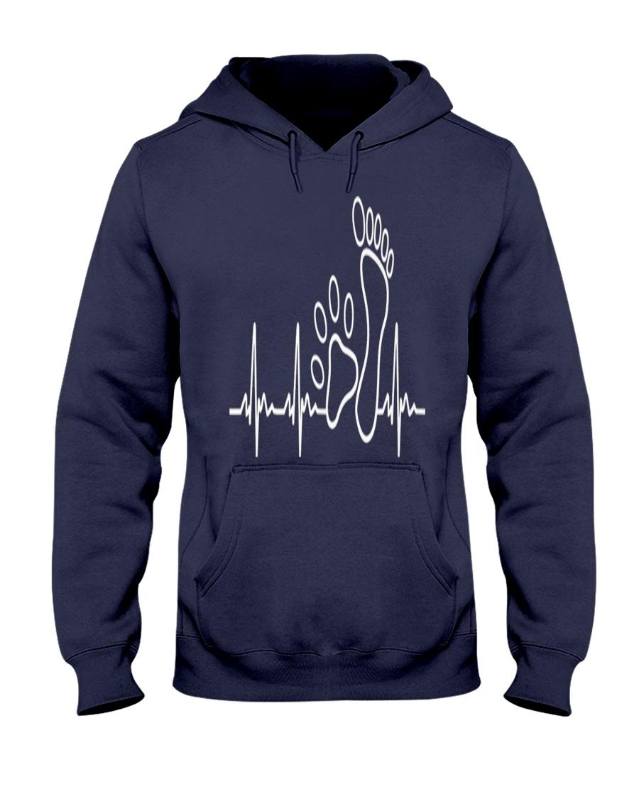 DOG WALKING - MY HEART BEAT Hooded Sweatshirt