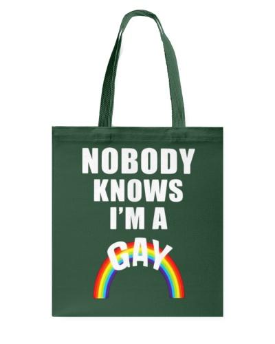 Nobody Knows Im a Gay t-shirt - LGBT Pride Shirt