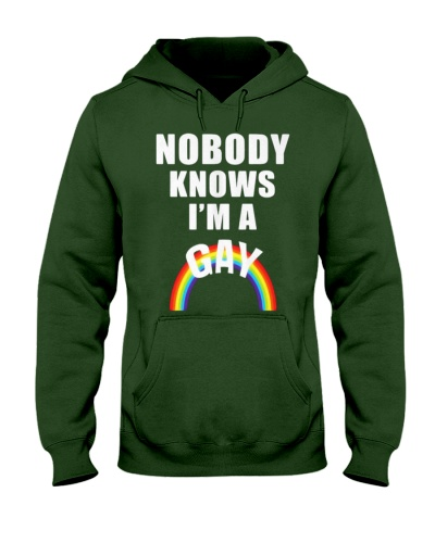 Nobody Knows Im a Gay t-shirt - LGBT Pride Shirt