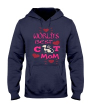 Mothers Day Cat Mom Hooded Sweatshirt front