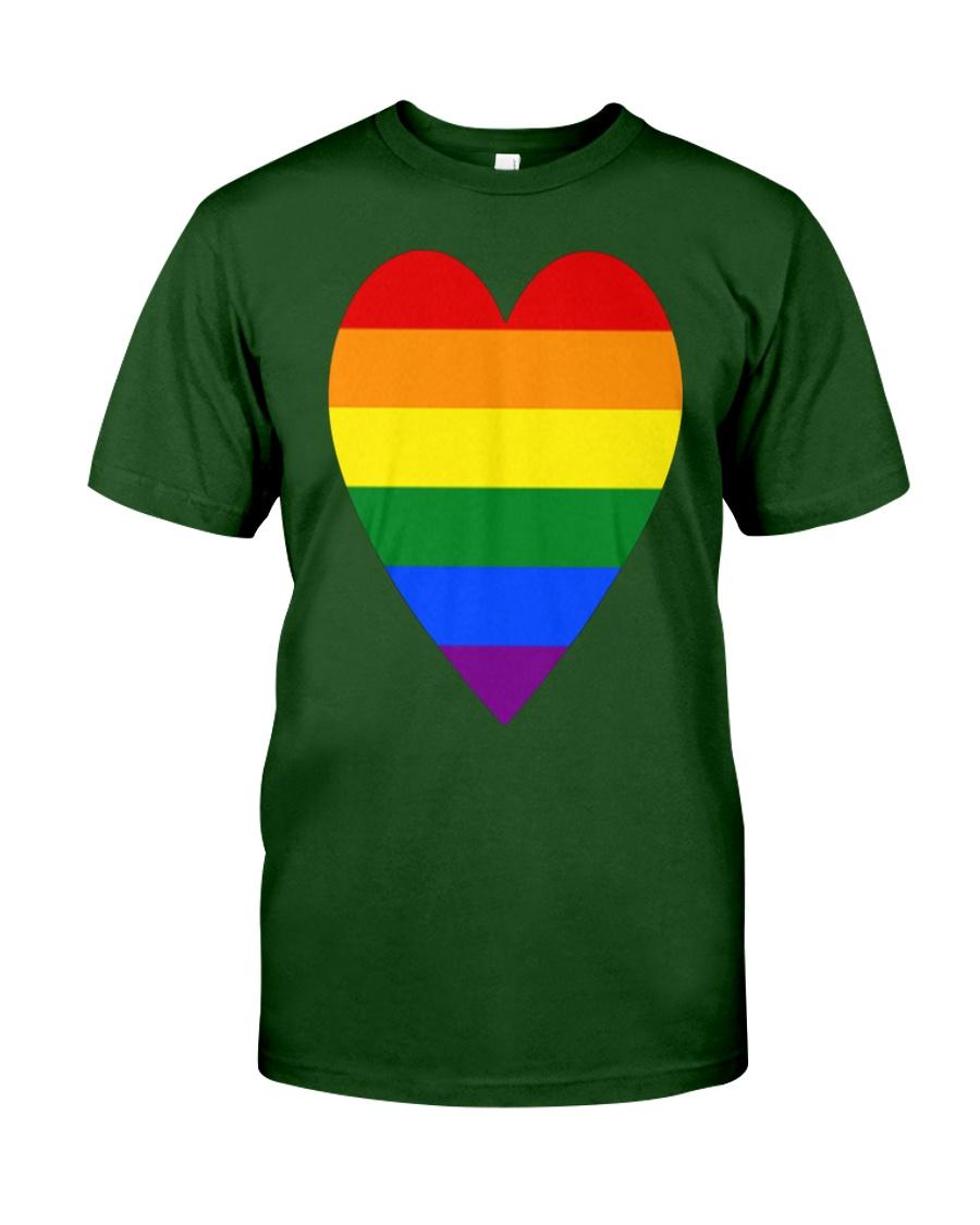 Rainbow Heart Lesbian Pride LGBT Pride G Classic T-Shirt showcase