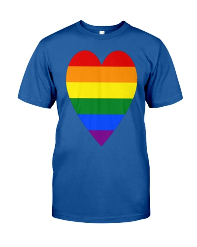 Rainbow Heart Lesbian Pride LGBT Pride G