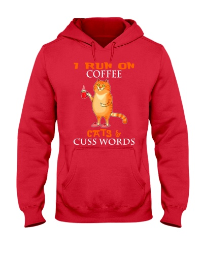 I Run On Coffee Cats Cuss Words Cat
