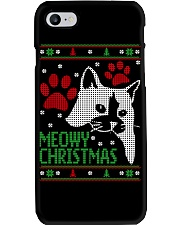 Meowy Ugly Christmas Sweaters - Ugly Sweater Phone Case thumbnail