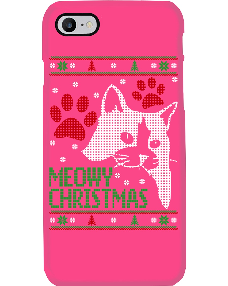 Meowy Ugly Christmas Sweaters - Ugly Sweater Phone Case