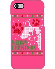 Meowy Ugly Christmas Sweaters - Ugly Sweater Phone Case i-phone-7-case