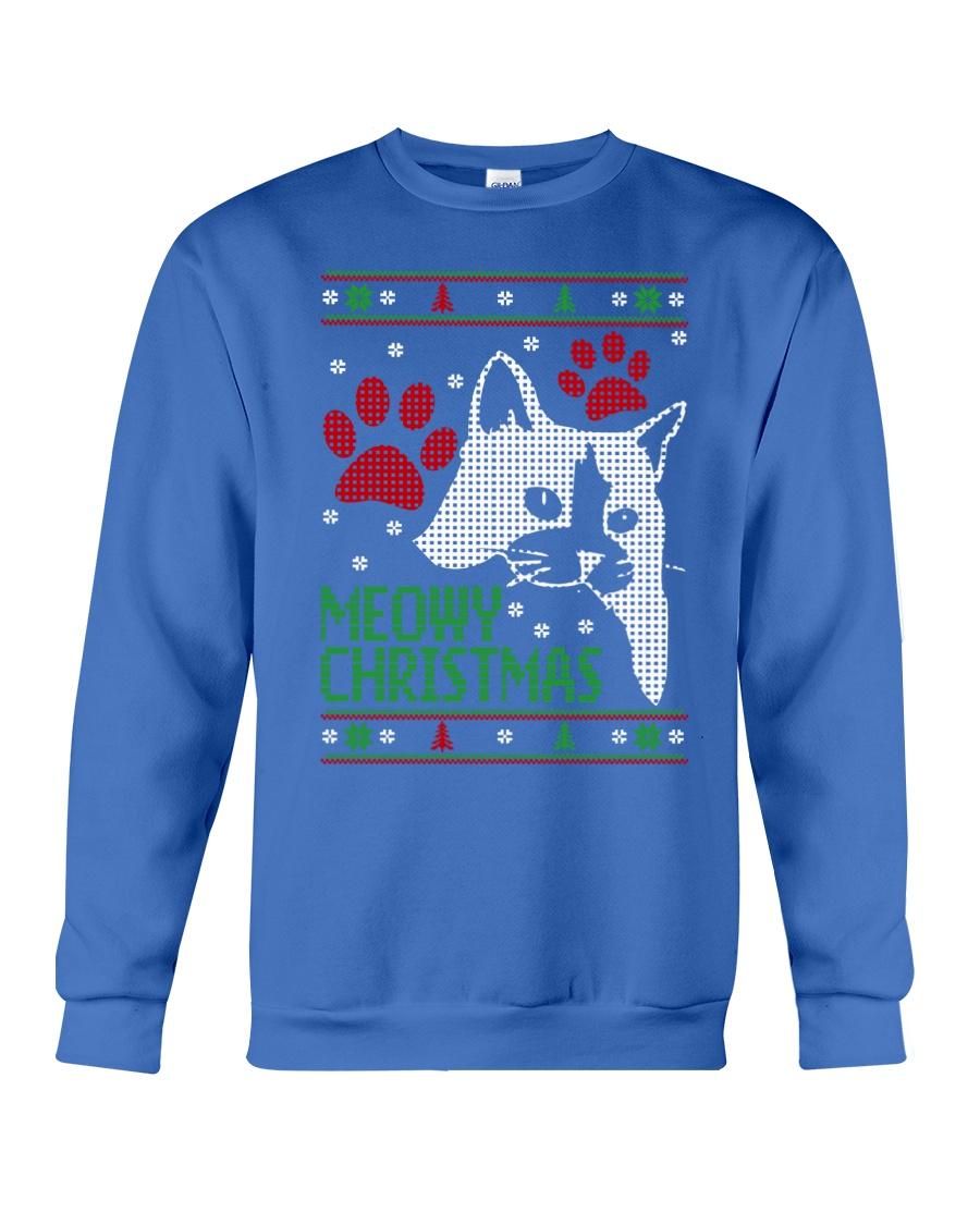 Meowy Ugly Christmas Sweaters - Ugly Sweater Crewneck Sweatshirt