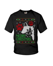 Meowy Ugly Christmas Sweaters - Ugly Sweater Youth T-Shirt thumbnail