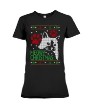 Meowy Ugly Christmas Sweaters - Ugly Sweater Premium Fit Ladies Tee thumbnail