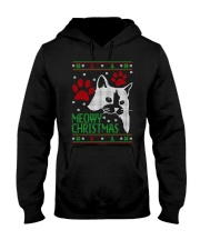 Meowy Ugly Christmas Sweaters - Ugly Sweater Hooded Sweatshirt thumbnail