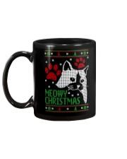 Meowy Ugly Christmas Sweaters - Ugly Sweater Mug back