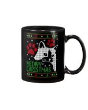 Meowy Ugly Christmas Sweaters - Ugly Sweater Mug thumbnail