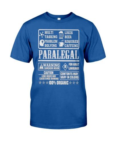 PARALEGAL 100 ORGANIC T-SHIRTS