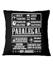 PARALEGAL 100 ORGANIC T-SHIRTS Square Pillowcase thumbnail