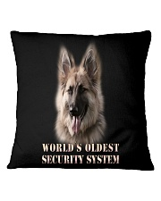 WORLD'S OLDEST SECURITY SYSTEM German Shepherd Square Pillowcase thumbnail