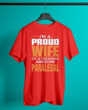 PROUD WIFE - PARALEGAL Classic T-Shirt lifestyle-mens-crewneck-front-3