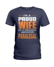 PROUD WIFE - PARALEGAL Ladies T-Shirt thumbnail