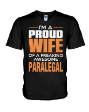 PROUD WIFE - PARALEGAL V-Neck T-Shirt thumbnail