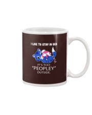 Like To Stay In Bed It's Too Peopley Outside Cat Mug thumbnail
